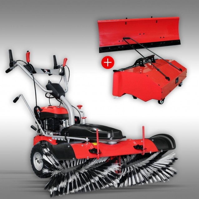 Sweeper Jansen MKB-500 E with electric starter + container + snow blade